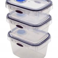 Rectangular Foodcontainer Tritan with date indication and valve